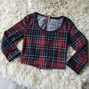 NWOT Gingham Crop Top
